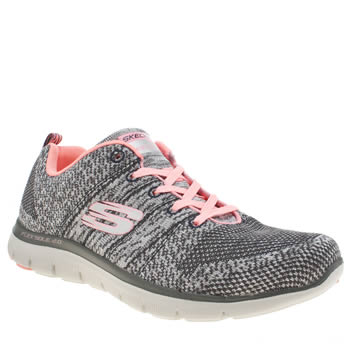 Skechers Dark Grey Flex Appeal 2.0 High Energy Trainers