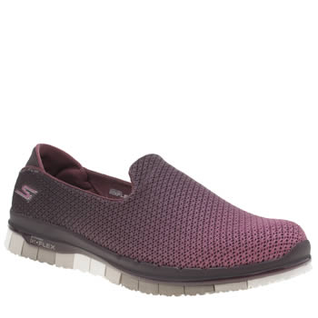 Skechers Burgundy Go Flex Lotus Trainers
