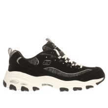 Skechers Black & White Dlites Me Time Womens Trainers
