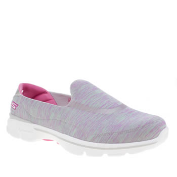 Skechers Pink Skech Go Walk 3 Force Trainers