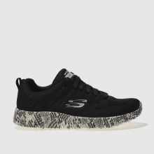 Skechers Black & White Burst Be Brave Womens Trainers