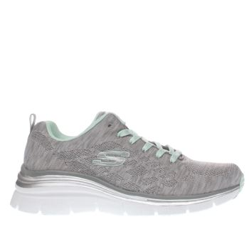 Skechers Grey Fashion Fit Style Chic Trainers