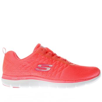Skechers Orange Flex Appeal 2.0 Break Free Womens Trainers