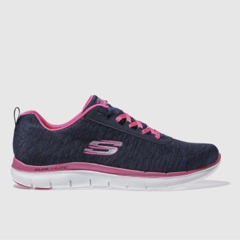 Skechers Navy Flex Appeal 2-0 Womens Trainers
