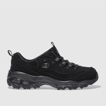 Skechers Black Dlites Play On Womens Trainers