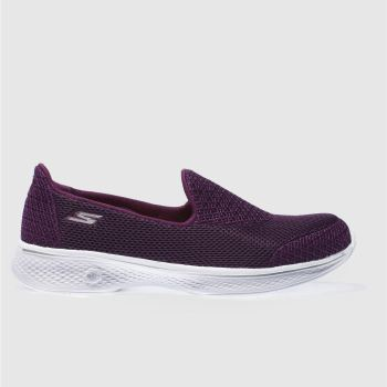 Skechers Purple Go Walk 4 Propel Womens Trainers