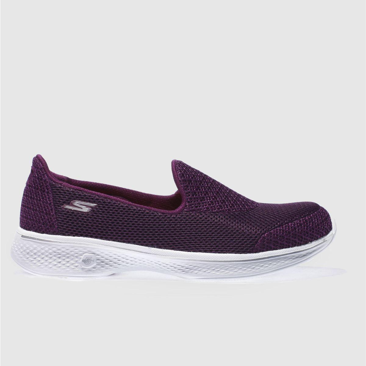 skechers purple go walk 4 propel trainers