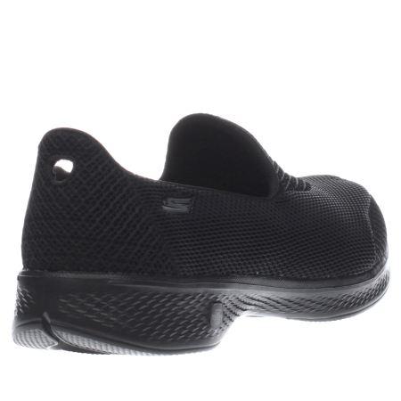 cheap skechers go walk black