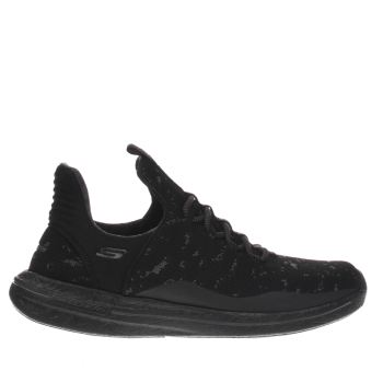 Skechers Black Burst Walk Trainers