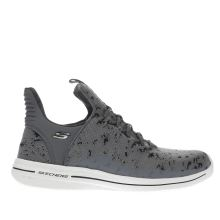 Skechers Grey & Black Burst Walk Womens Trainers