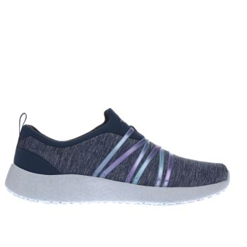 Skechers Navy & White Burst Alter Ego Womens Trainers