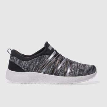 Skechers Black Burst Alter Ego Womens Trainers