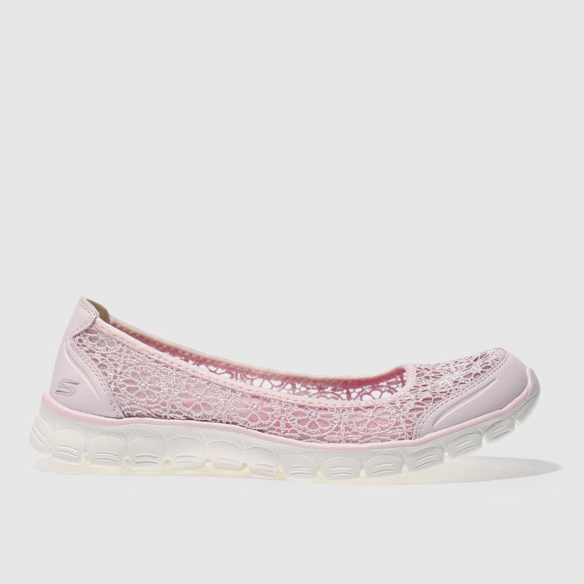 skechers pale pink ez flex 3-0 majesty trainers