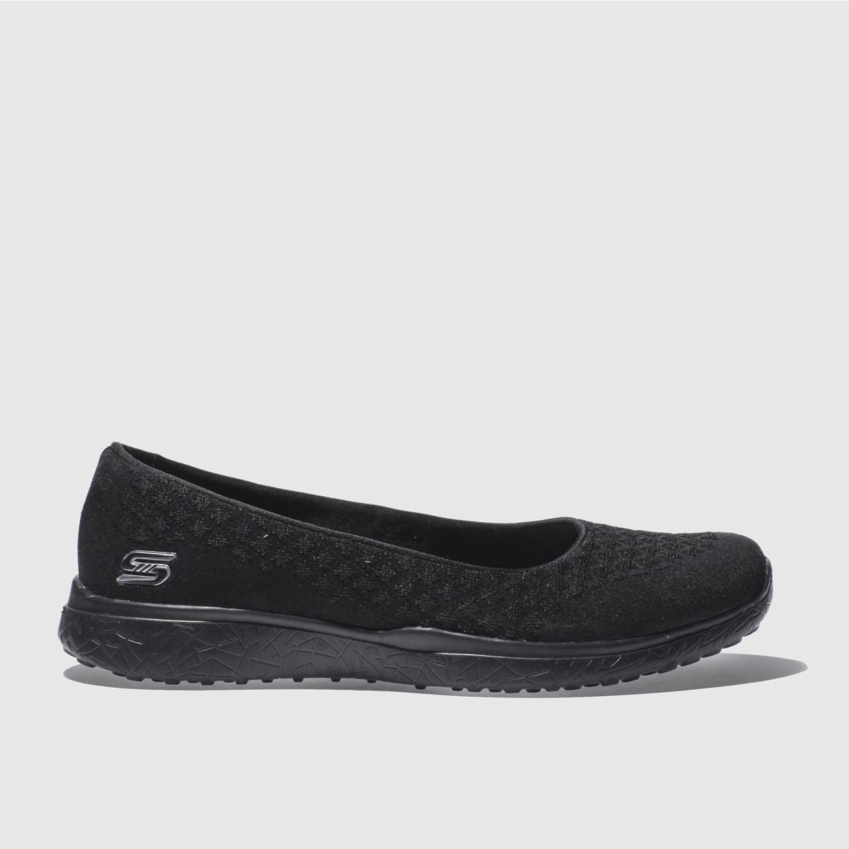 skechers black microburst one-up trainers