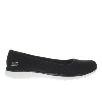 Skechers Black Microburst One Up Womens Trainers