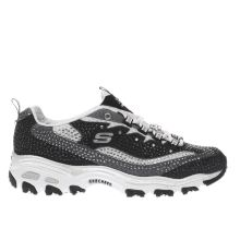 Skechers Black & White Dlites Diamonds Womens Trainers