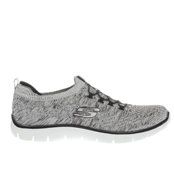 Skechers White & Black EMPIRE SHARP THINKING Trainers