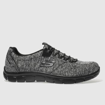 Skechers Black Empire Heart To Heart Womens Trainers