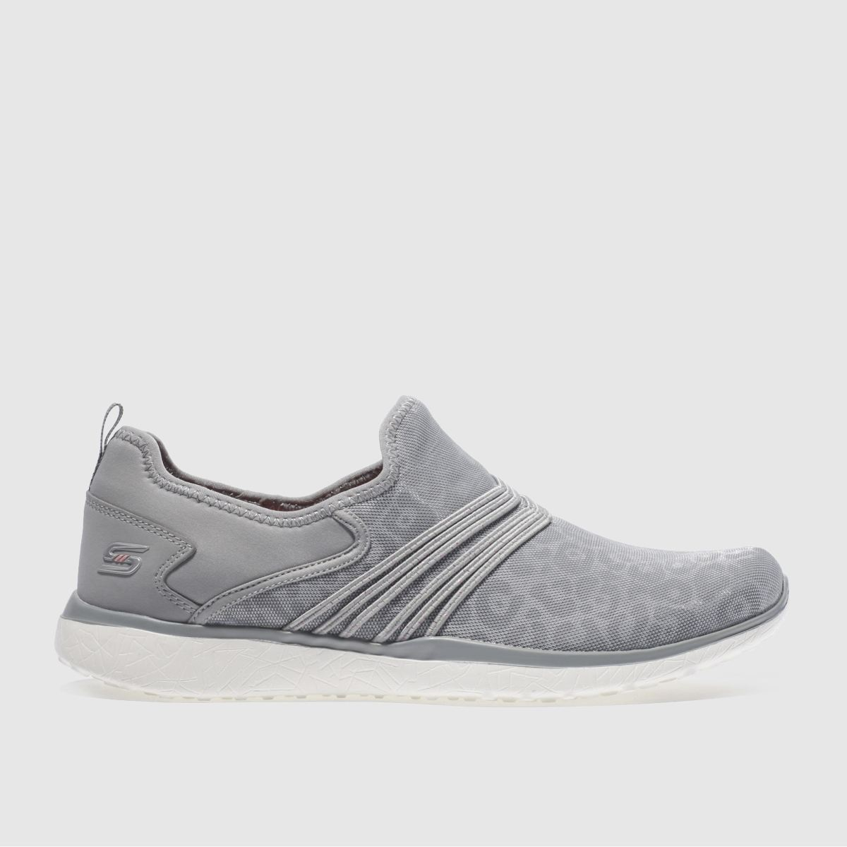 skechers grey microburst under wraps trainers