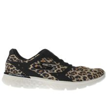 Skechers Beige & Brown Go Run 400 Feline Womens Trainers