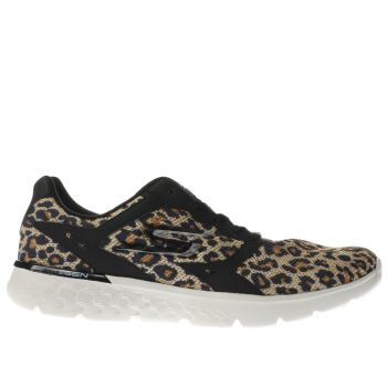 Skechers Beige Go Run 400 Feline Womens Trainers