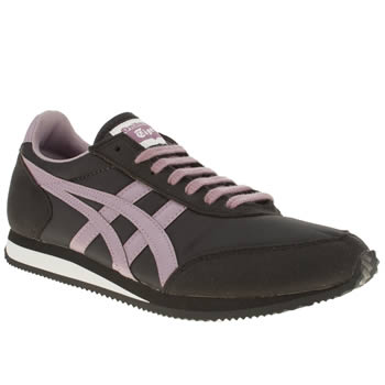 womens onitsuka tiger black & purple sakurada trainers
