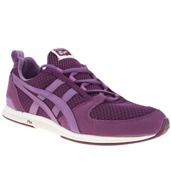 womens onitsuka tiger purple ult-racer trainers