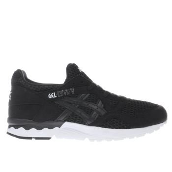 ASICS BLACK & WHITE GEL-LYTE V TRAINERS