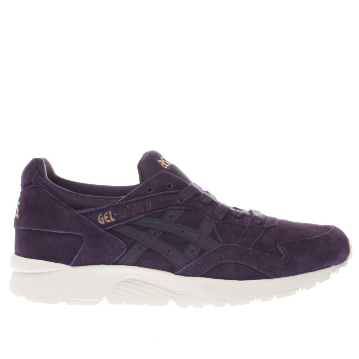 asics dark purple gel-lyte v trainers