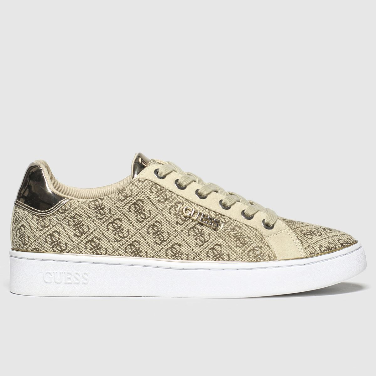Guess Guess Beige & Brown Beckie Trainers
