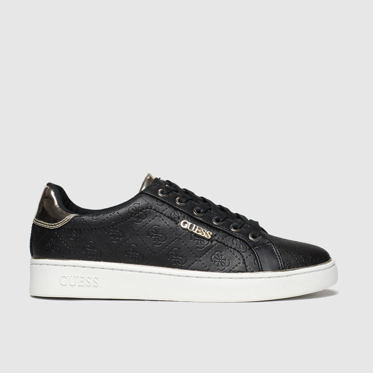 Guess Guess Black & Gold Beckie Trainers