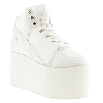 womens youth rise up white qozmo hi trainers