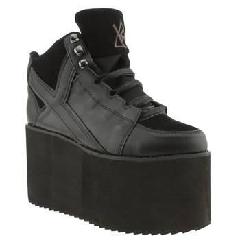 womens youth rise up black qozmo hi trainers