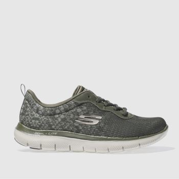Skechers Khaki Flex Appeal 2.0 In Focus Womens Trainers