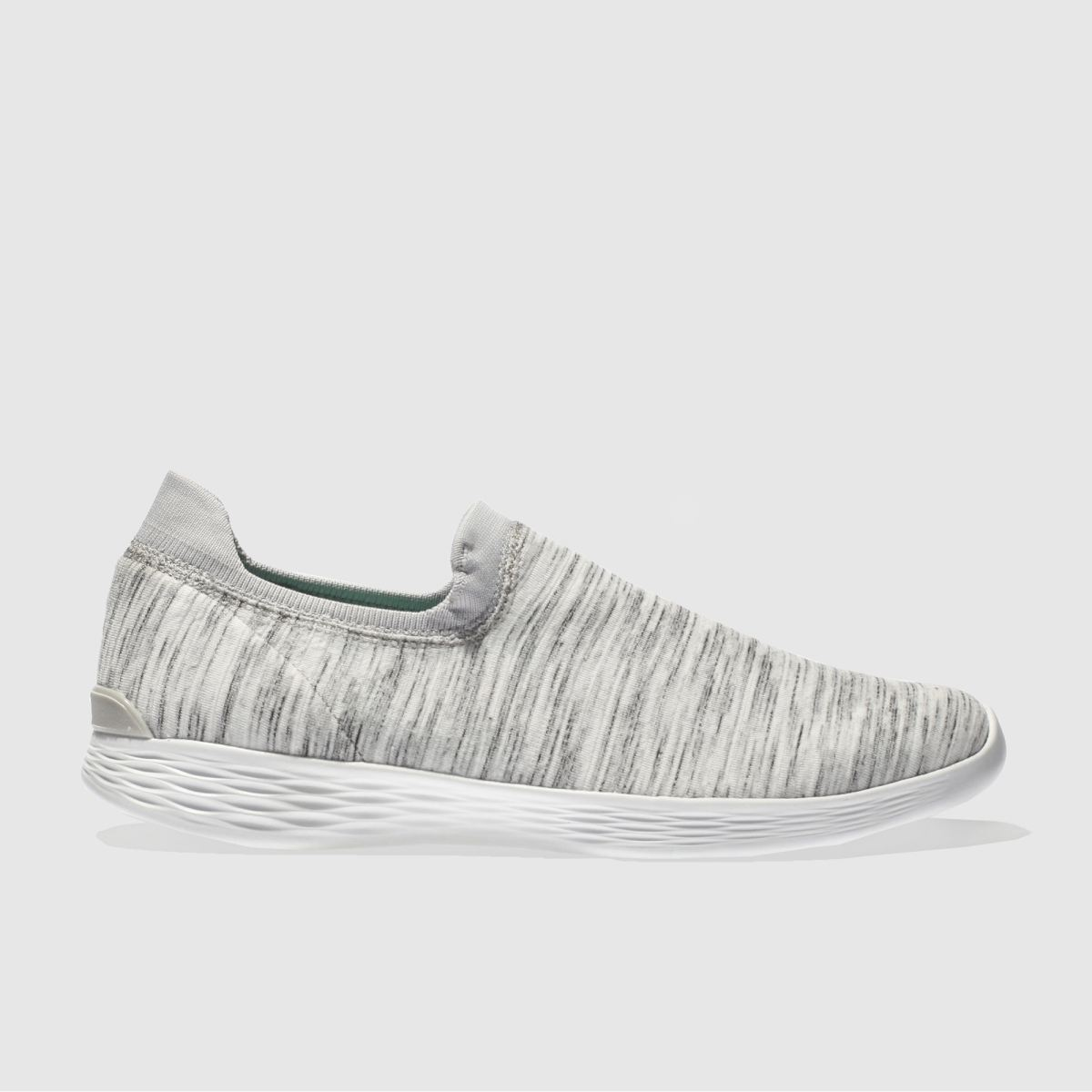 Skechers White & Grey You Define Grace Trainers