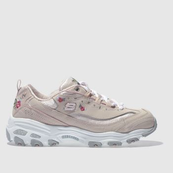 Skechers Pale Pink DLITES BRIGHT BLOSSOMS Trainers