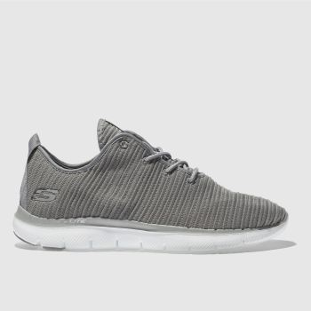 Skechers Grey Flex Appeal 2.0 Estates Womens Trainers