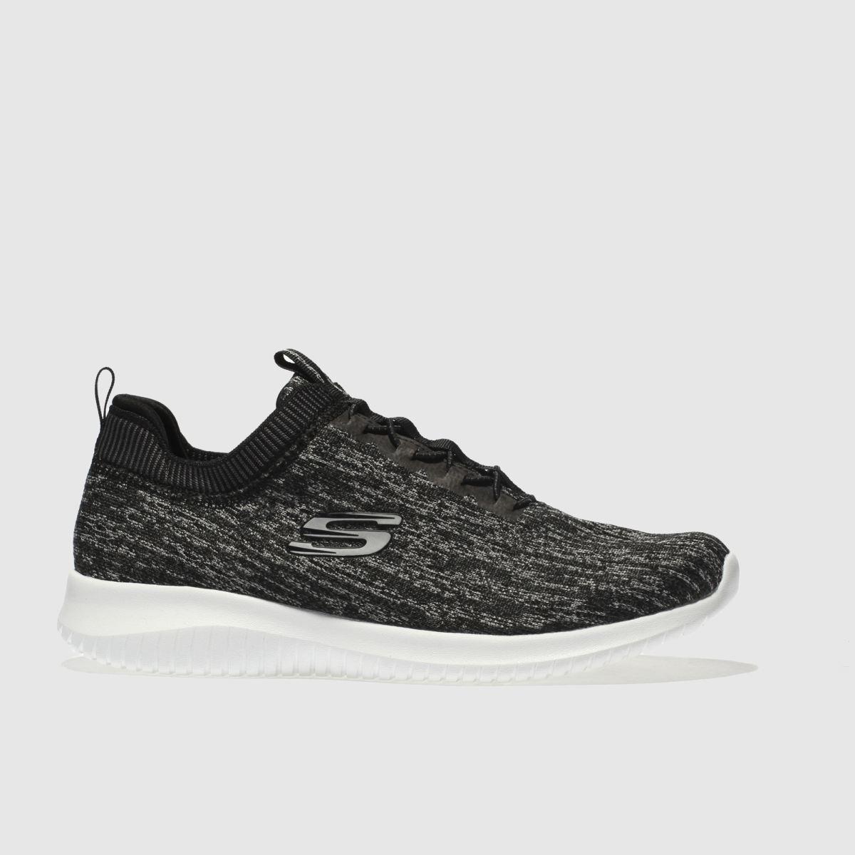 Skechers Black & Grey Ultra Flex Bright Trainers