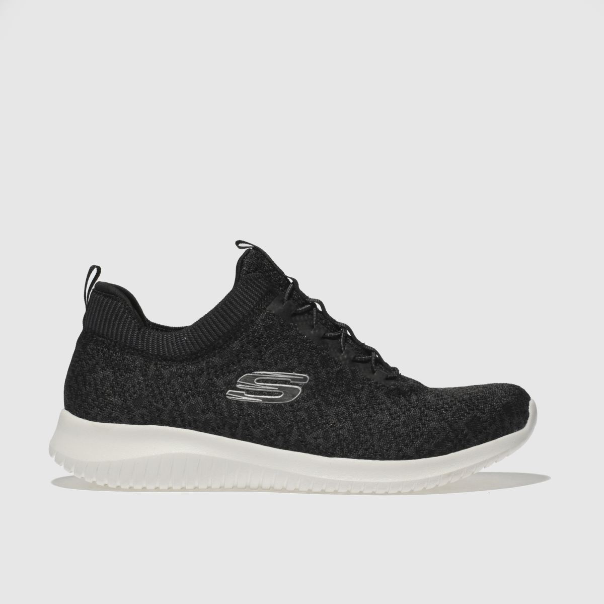 Skechers Black & White Ultra Flex Trainers