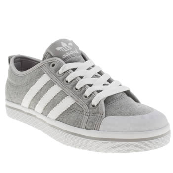 womens adidas grey honey low stripes trainers