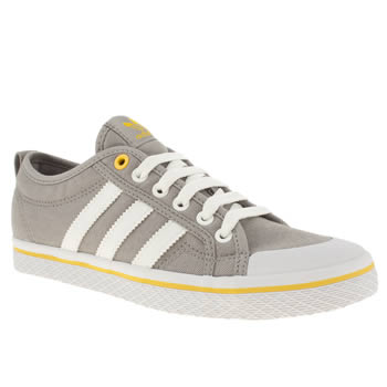 womens adidas light grey honey low iii stripes trainers
