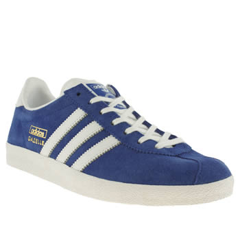 womens adidas blue gazelle og ii trainers