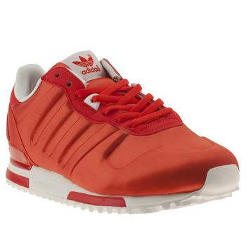 womens adidas red zx 700 w satin trainers
