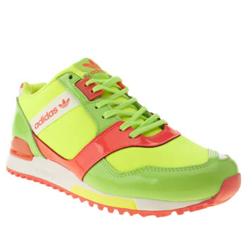 Womens Adidas Lime Zx 700 Contemp Trainers