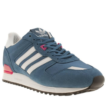 womens adidas blue zx 700 w trainers