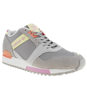 womens adidas light grey zx 700 contemp trainers
