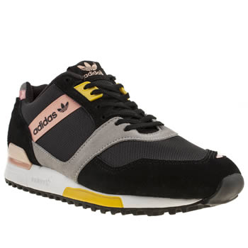 womens adidas black & silver zx 700 contemp trainers