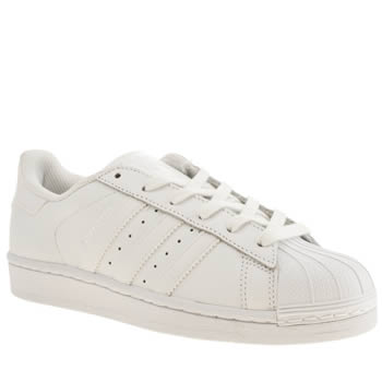Womens Adidas White Superstar Foundation Trainers