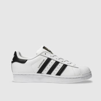 Womens Adidas White & Black Superstar Foundation Trainers