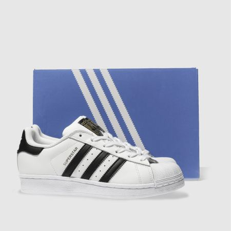Adidas Superstar Foundation Shoes Black/gold/white Size 10 M